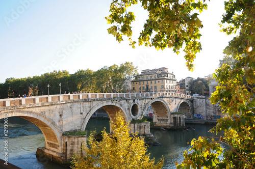 Poster Bridges Roma, il Tevere a Ponte Sisto