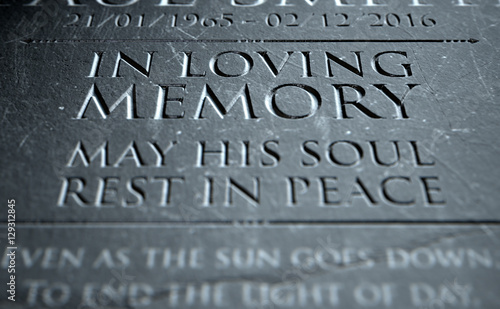 Photo Gravestone In Loving Memory
