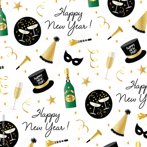 Photo  new year's eve pattern