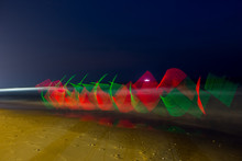 LED Light Painting At Out Door