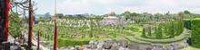 French Garden Of Nong Nooch Tropical Botanical Gardenat Sunrise , Pattaya, Thailand
