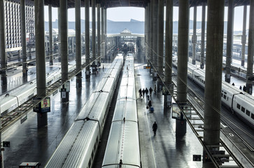 Railway station for high speed express trains in Europe