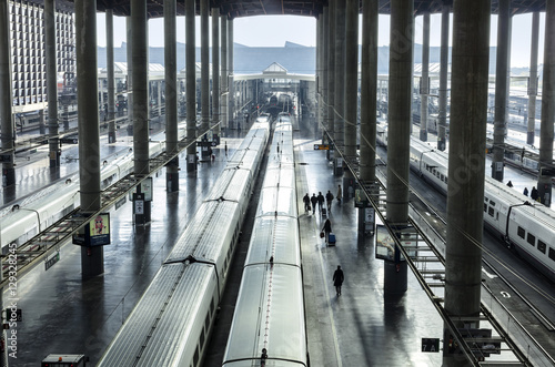 Foto op Plexiglas Treinstation Railway station for high speed express trains in Europe