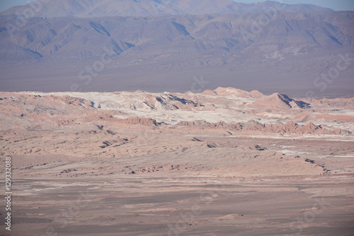 Spoed Foto op Canvas Lavendel Landscape in Atacama desert Chile