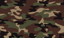 Vector Background Of Soldier Green Camo Pattern