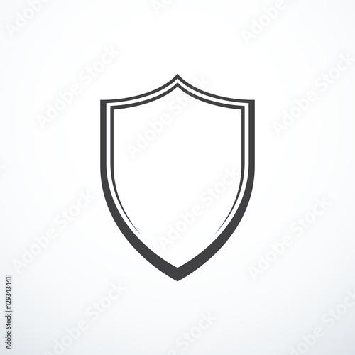 Fotografie, Obraz Vector shield icon