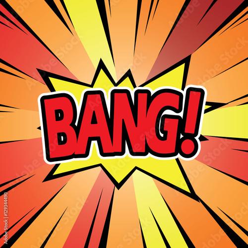 Photo  Comic graphic design for BANG explosion blast dialog box