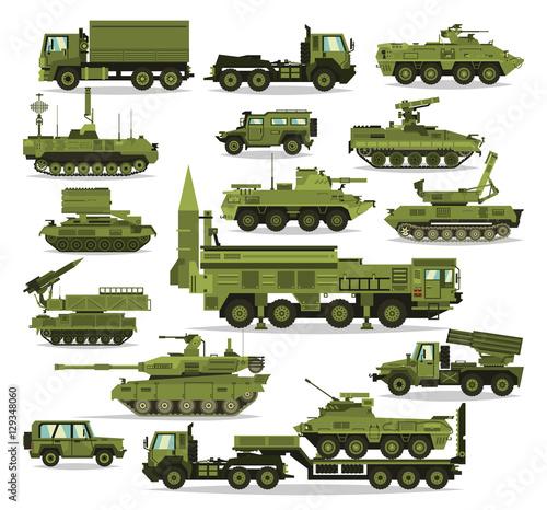 Fotografia  Big set of military equipment