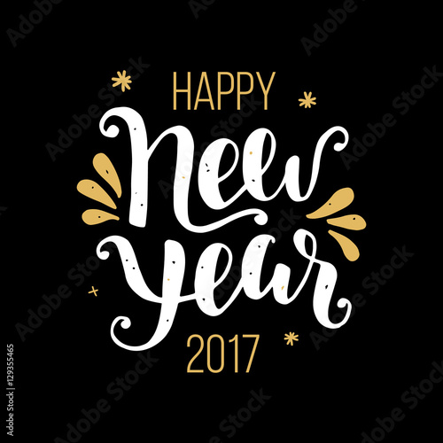 Happy New Year 2017 poster Fototapete