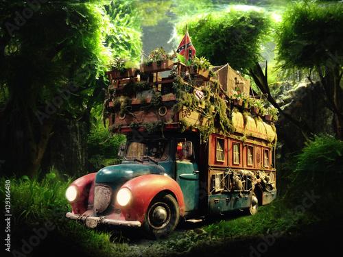 Photo  Wohnmobil im Dschungel
