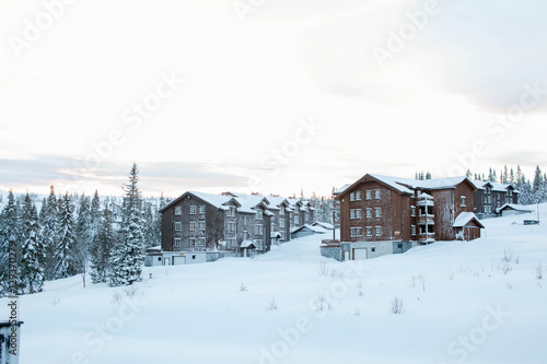 Photographie  Beautiful sunrisre in Trysil mountain