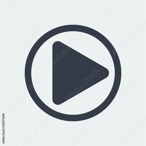 Poster Macarons Play button icon design, media icon design vector.