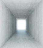 Fototapeta Perspektywa 3d - Concrete tunnel