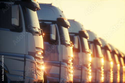 Photo Transport Fleet Sunset