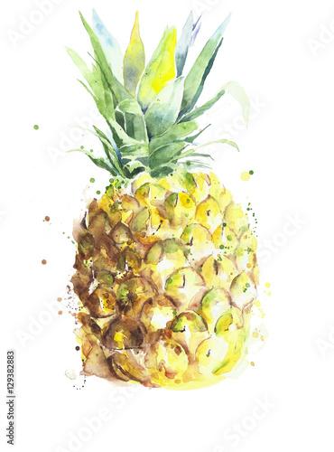 obraz-ananasa-na-bialym-tle