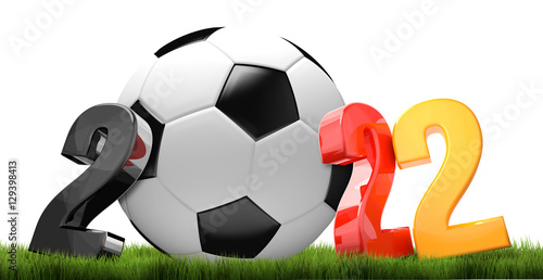 Fotografia  2022. soccer football year 2022 germany 3d render