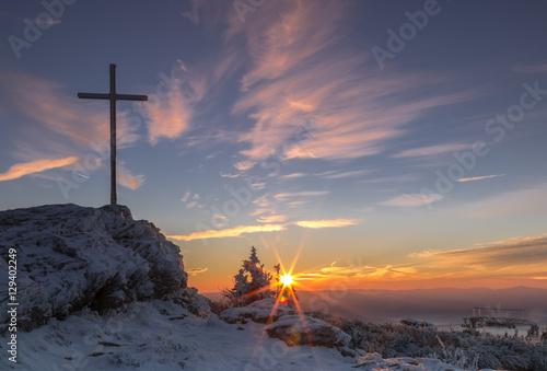 Photo Sonnenaufgang auf dem Großen Arber