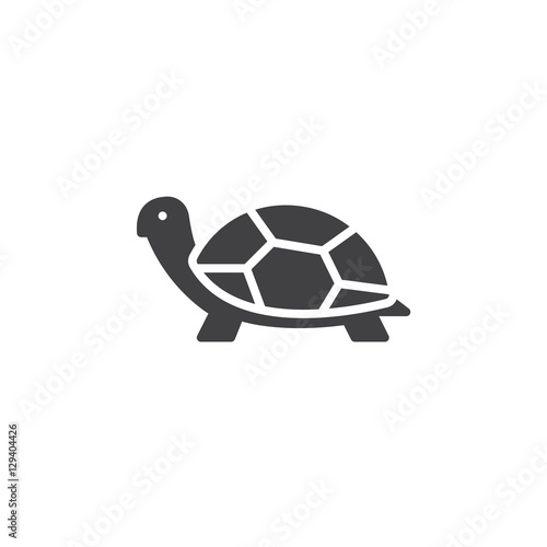 Fotografie, Obraz  Turtle icon vector, filled flat sign, solid pictogram isolated on white