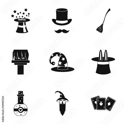 Plakát Witchcraft icons set