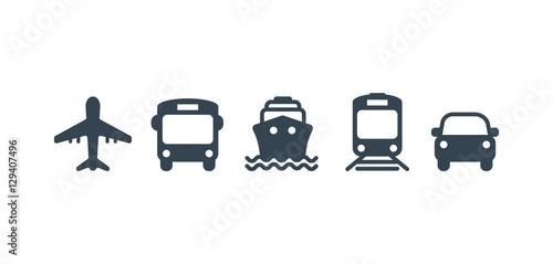 Canvas Print Transport icons
