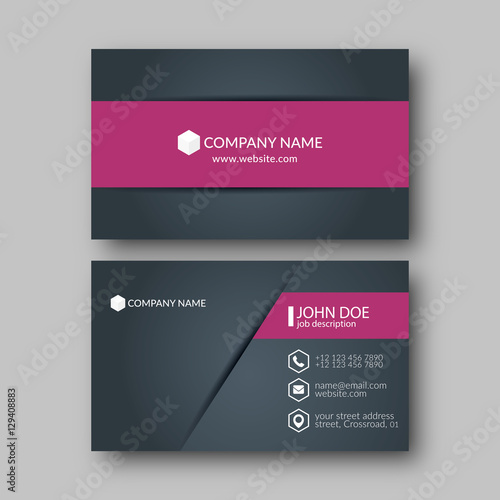 Photo  Business Card Template.