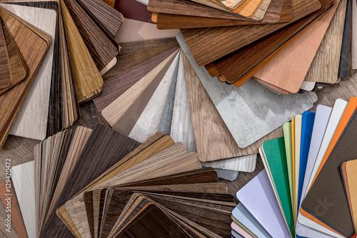 Fototapeta Color wood texture palette guide obraz na płótnie