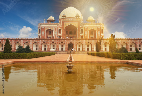 Crédence de cuisine en verre imprimé Delhi Humayun Tomb New Delhi, India.