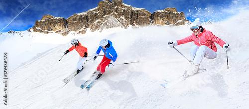 Fotografía  the ski race