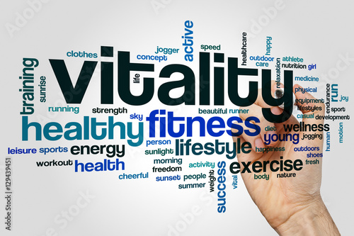 Fotografia  Vitality word cloud