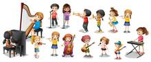 Many Children Playing Differen...
