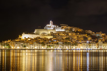Ibiza Dalt Vila Downtown At Night