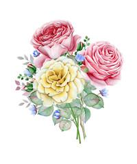 FototapetaWatercolor rose bouquet