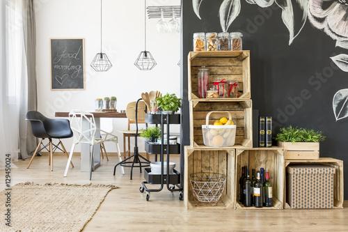 Fotografía  Interior with dining table