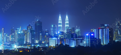 Canvas Prints Kuala Lumpur Petronas Twin Towers were the tallest buildings (452 m) in the world from 1998 to 2004.
