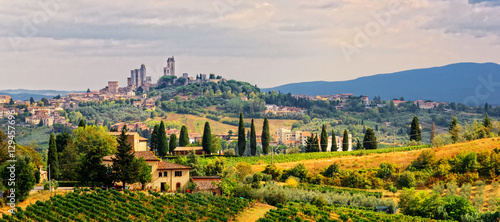 Photo Stands Tuscany San Gimignano Stadt Toskana