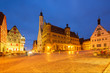 square with city hall in Rothenburg ob der Tauber, Germany