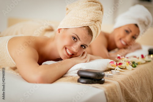 Two Girls In The Spa Centre
