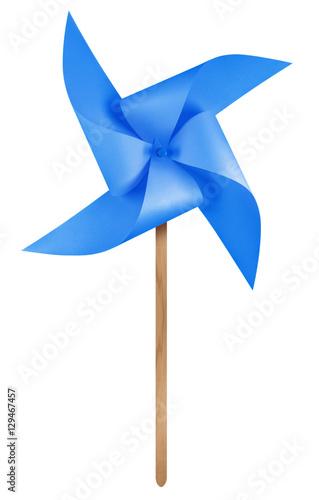 Fotografia, Obraz  Paper windmill pinwheel - Blue