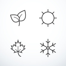 Vector Season Icons
