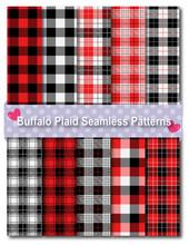 Buffalo Plaid Seamless Pattern...