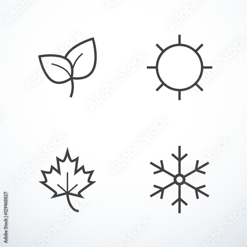 Láminas  Vector season icons