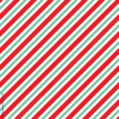 fototapeta na ścianę Seamless Christmas Stripe Wrapping Paper Pattern