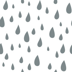 Baby vector seamless pattern. Light fun rain print for textile fabric. Kids r...