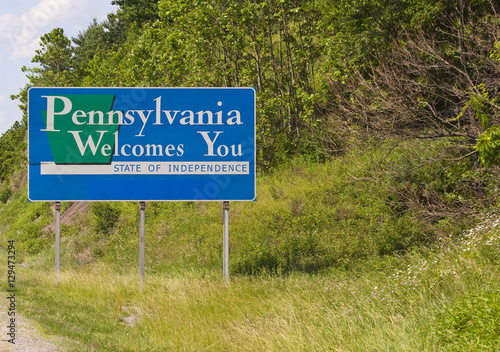 Valokuva  Welcome to Pennsylvania