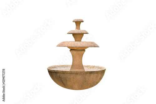 Photo sur Toile Fontaine fountain isolated on white background