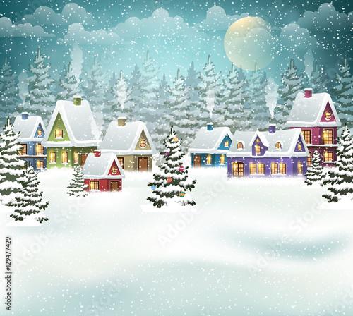 Fotografía  Christmas winter village
