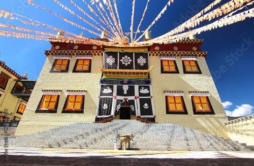 Fotografie, Obraz  Songzanlin Temple also known as the Ganden Sumtseling Monastery, is a Tibetan B
