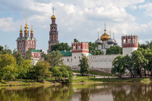 Novodevichy Convent In Moscow, Russian Orthodox Church.
