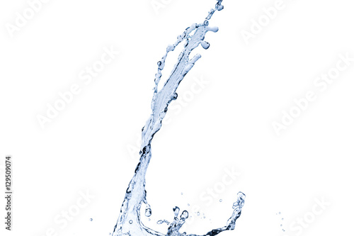 Papiers peints Eau blue water splash isolated on white background