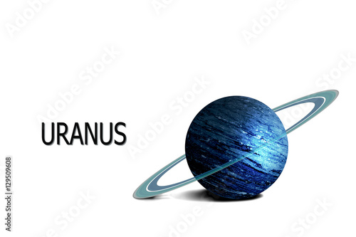 uranus planet. including elements furnished by NASA. Canvas Print